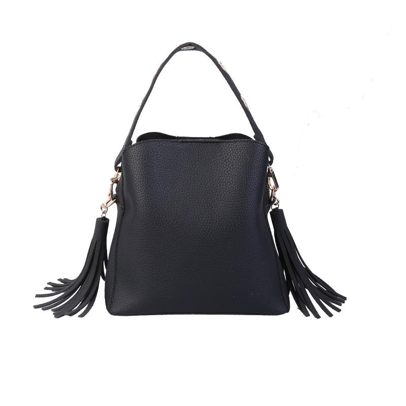 MARFUNY Brand Tassel Shoulder Bags Handbags Women Scrub Daily Bag For Girls Schoolbag Female Crossbody Bags New Bucket Sac 8