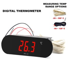 50~120C or  20~300C NTC Sensor mini digital THERMOMETER for freezer pipe oven 90 250VAC 12V Power