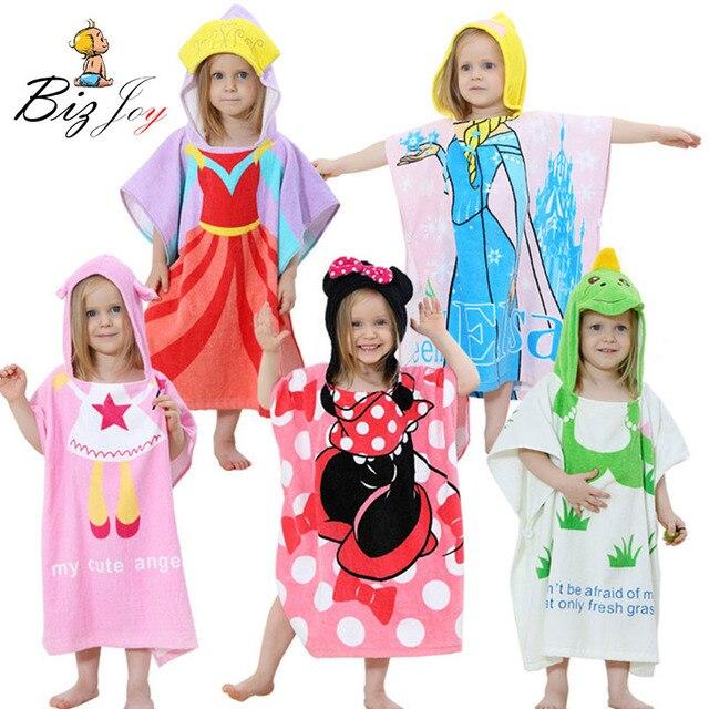 Baby Robe bath towel Cape animal Cute children bathrobe Pajamas cap minnie  Cartoon cotton Girls towel clothes Kids Play Mats 6b86df569