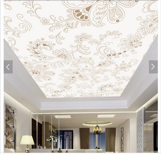 Custom 3d photo wallpaper 3d ceiling wallpaper murals Jane ceiling frescoes on the decorative pattern 3d room wallpaper