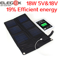 Elegeek 18 w 12 v-18 v 5 v carregador de painel solar dobrável ao ar livre portátil usb carregador de painel solar pack para laptop ipad iphone samsung