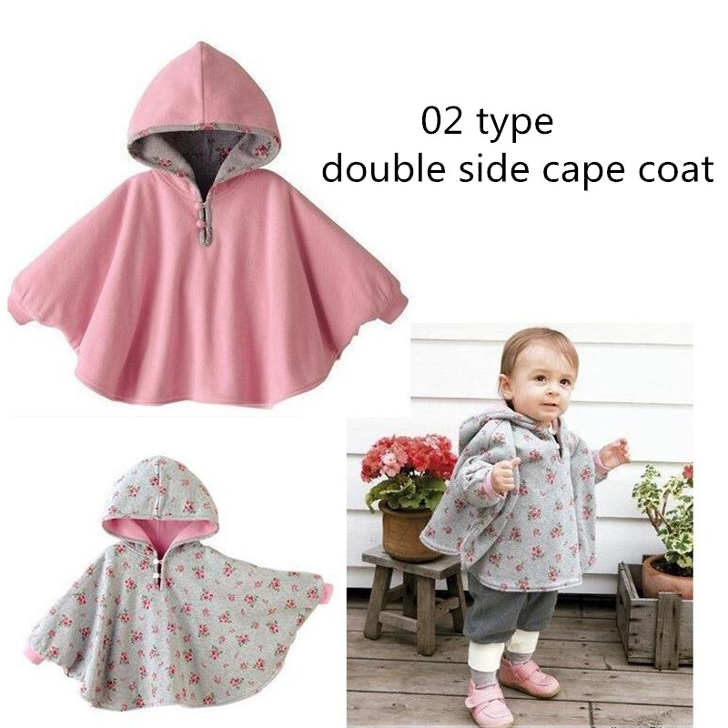 Girls Hooded Cloak Red Woolen Cloak Baby Coat Long Sleeve Infant Cape Double Layer Jackets Outwear Warm Winter Clothes Size:95