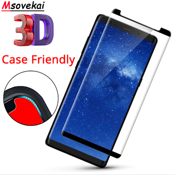 Case Friendly 3D Curved Tempered Glass For Samsung Galaxy Note8 Note9 N950 9H Screen Protector Protective Film Not Full Cover image