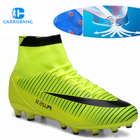 Large Size 35 46 Soccer Shoes Men High Ankle Football Shoes Tf/fg/ag Long Spikes Training Football Boots Hard wearing Sneakers