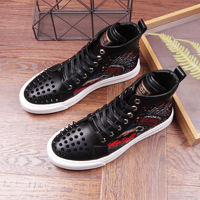2019 Men Brand Fashion Party Loafers Ankle Shoes Metal Sheet and Gold Buckle Men Dress Shoes Rivets Toe Mens Flats-in Men's Casual Shoes from Shoes on Aliexpress.com | Alibaba Group 41