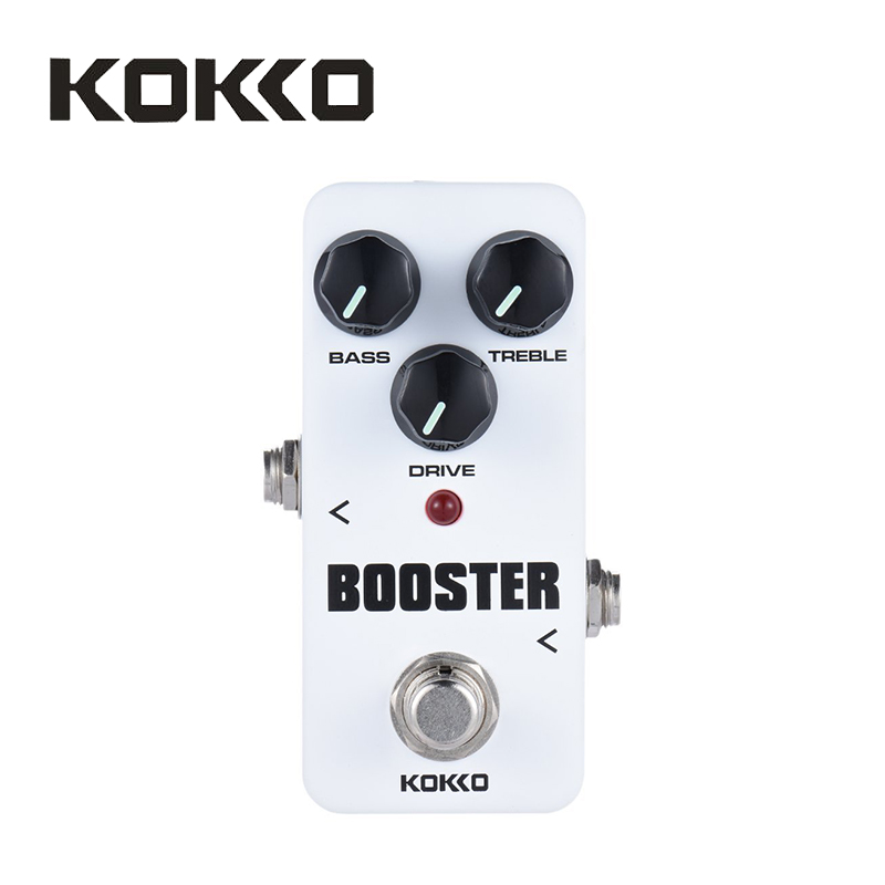 KOKKO FBS2 Mini Booster Pedal Portable 2-Band EQ Guitar Effect Pedal High Quality Guitar Parts & Accessories kokko fbs2 mini guitar effect pedal guitarra booster high power tube electric guitar two segment eq effect device parts