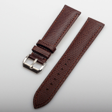 Wholesale Genuine Leather Watchband 20MM Brown Lizard Pattern Cow leather Watch Band Men Women Real Bracelets