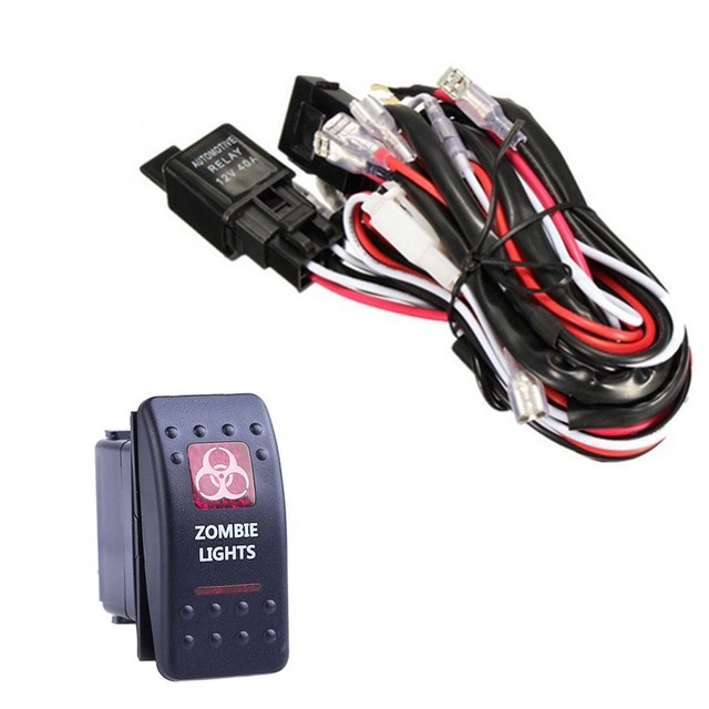 EE unterstützung 40A 300 Watt Kabelbaum Kit Led lichtleiste ...
