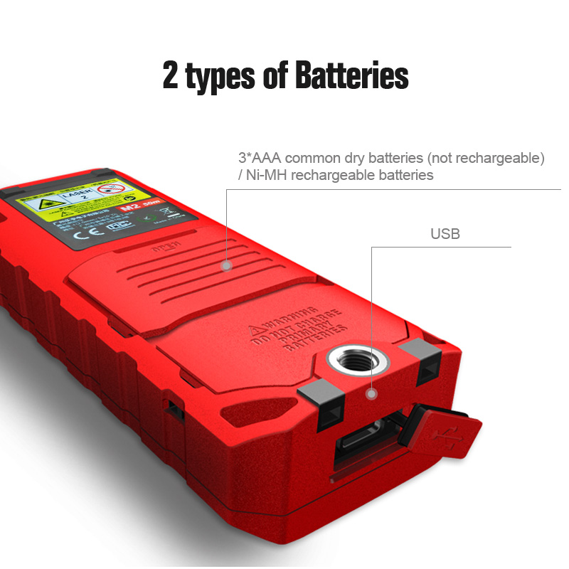 Tools : Miseey 50M 70M 100M 120M Rechargeable Laser Rangefinder New Laser Distance Meter Laser Measure Angle  Tools Diastimeter Red