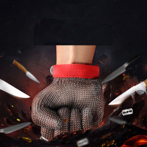 Image 5 - Stainless Steel Wire Safety Gloves Safety Anti cut Stab Resistant Work Gloves Cut Metal Mesh Butcher Anti cutting Work Gloves