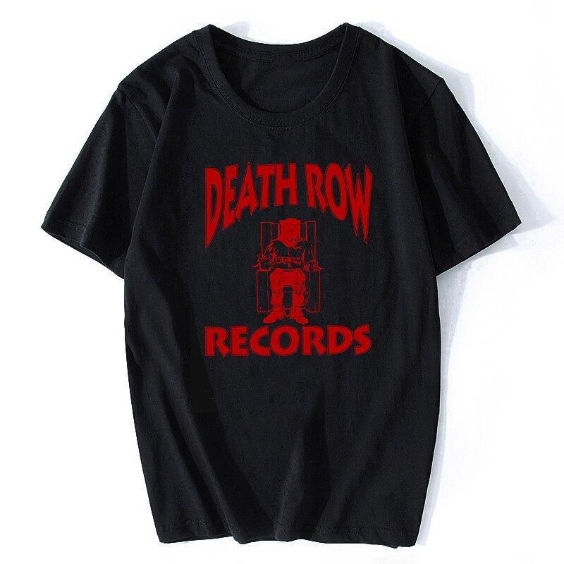 DEATH ROW RECORDS   T     Shirt   Men High Quality Aesthetic Cool Vintage Hip Hop   T  -  shirt   Harajuku Streetwear Camisetas Hombre