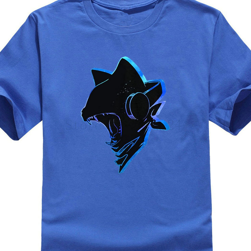 Fashion Design Free Shipping Outlined Monstercat Men 39 S Crew Neck Short Sleeve Printing Machine T Shirts Cool O Neck Tops in T Shirts from Men 39 s Clothing