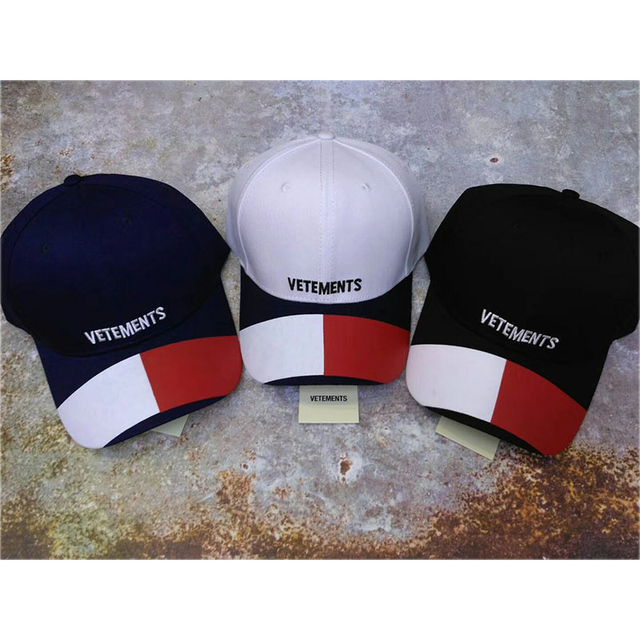 d33091e25c6 Vetements Hat Men Women Hip Hop Streetwear Contrast Color Vetements Cap  Embroidery Boy Girls Adjustable Vetements