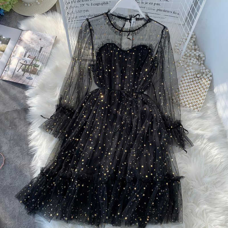 0f3a94b2b2 Detail Feedback Questions about Korea Style Women Sequins Mesh Dress ...