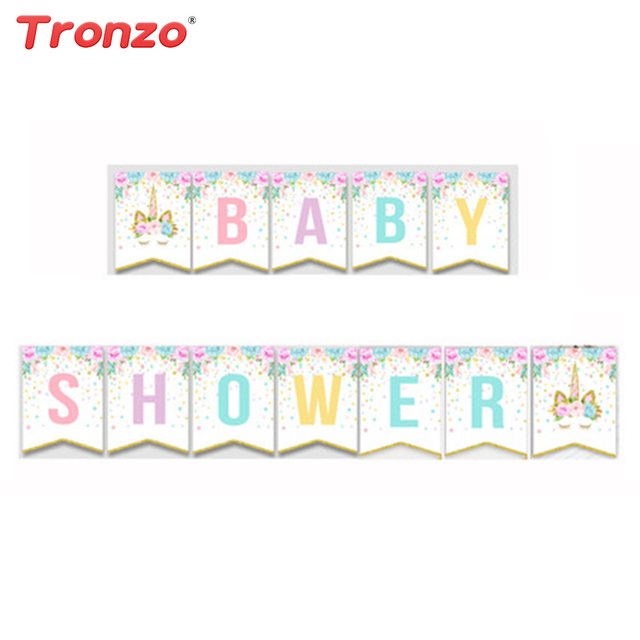 Tronzo Baby Shower Banner Baby Shower Girl Decorations Colorful
