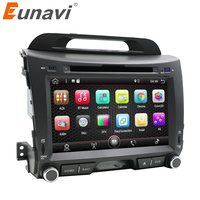 Eunavi 2 din 8'' Android 7.1 quad core car dvd radio player for KIA sportage 2011 2012 2013 2014 2015 head unit gps stereo wifi