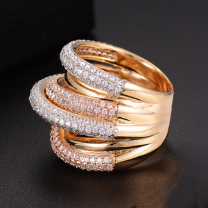 Image 4 - GODKI  Monaco Designer Luxury Twist Lines Geometry Cubic Zironium Engagement Dubai Naija Bridal Finger Rings Jewelry Addiction