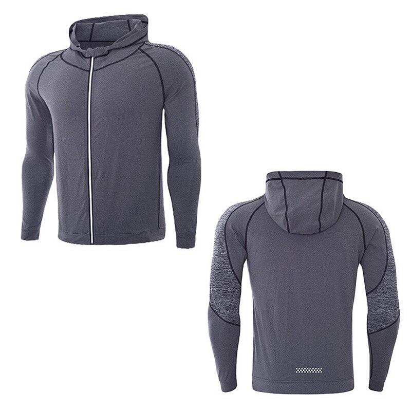 Hoodies Men 2018 Brand Male Long Sleeve Fitness Hooded Sweatshirt Mens Hoodie Tracksuit Sweat Coat Casual Zipper Jacket S-3XL