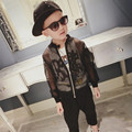 Boys Outwear 2016 Summer Baby Boys Coats Long Sleeve O-Neck Zipper Black Hollow Out Cardigan Coat Children Jacket 2-7 Years