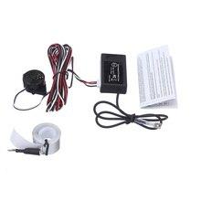 Envío libre alarma del zumbador Electromagnética sensor de aparcamiento electromagnético Auto Ayuda Del Estacionamiento Del Coche sin necesidad de agujeros no perforado