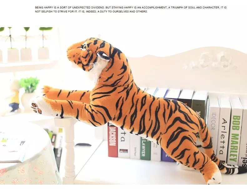new lovely simulation lying tiger toy plush lying yellow tiger doll gift about 90cm 0424 stuffed animal 115 cm plush simulation lying tiger toy doll great gift w114