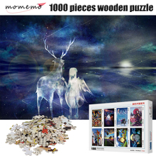 MOMEMO Under The Stars Wooden Puzzle for Adults 1000 Pieces Puzzle Games Wooden Puzzles Toy Puzzles for Children Wooden Toys puzzle therapist one a day sudoku for the utterly obsessed large print puzzles for adults
