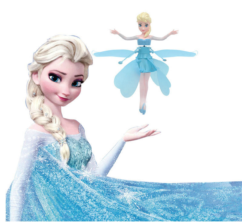 Frozen Princess Elsa Donald Duck Fairy Magical Flying Suspended Aircraft Micky Spiderman  Control Flying Dolls Toys