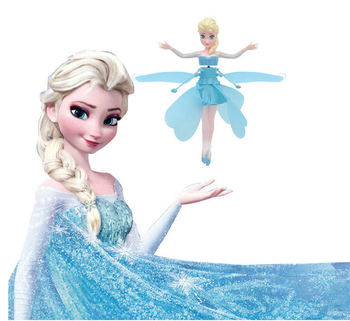цена на frozen Princess Elsa  Fairy Magical Flying Suspended aircraft Micky  Control Flying Dolls Toys