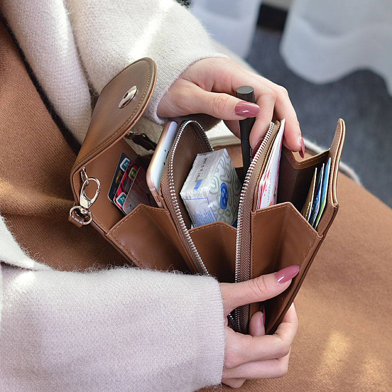 New PU Leather Cell Phone Bag Fashion Small Smartphone Women Handbag 7 Colors Messenger Crossbody Bag Pocket Zipper Card Purse