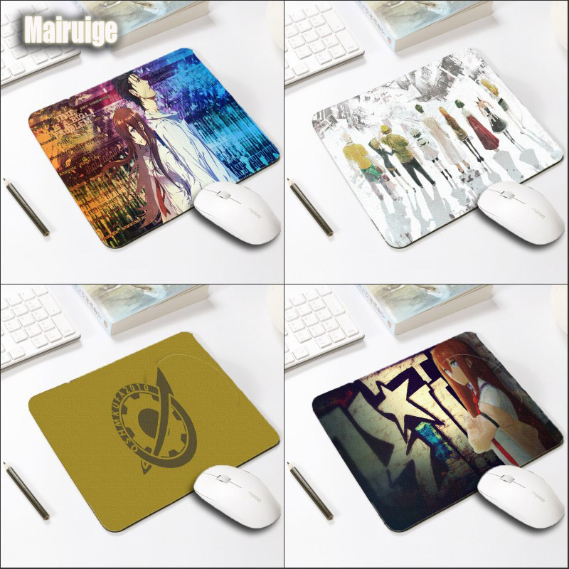 Mairuige Steins Gate Logo Printing Pattern Mousepad Anime Gaming Mousepad Size 290x250x2MM Notebooks Laptop Wear Soft Table Mat
