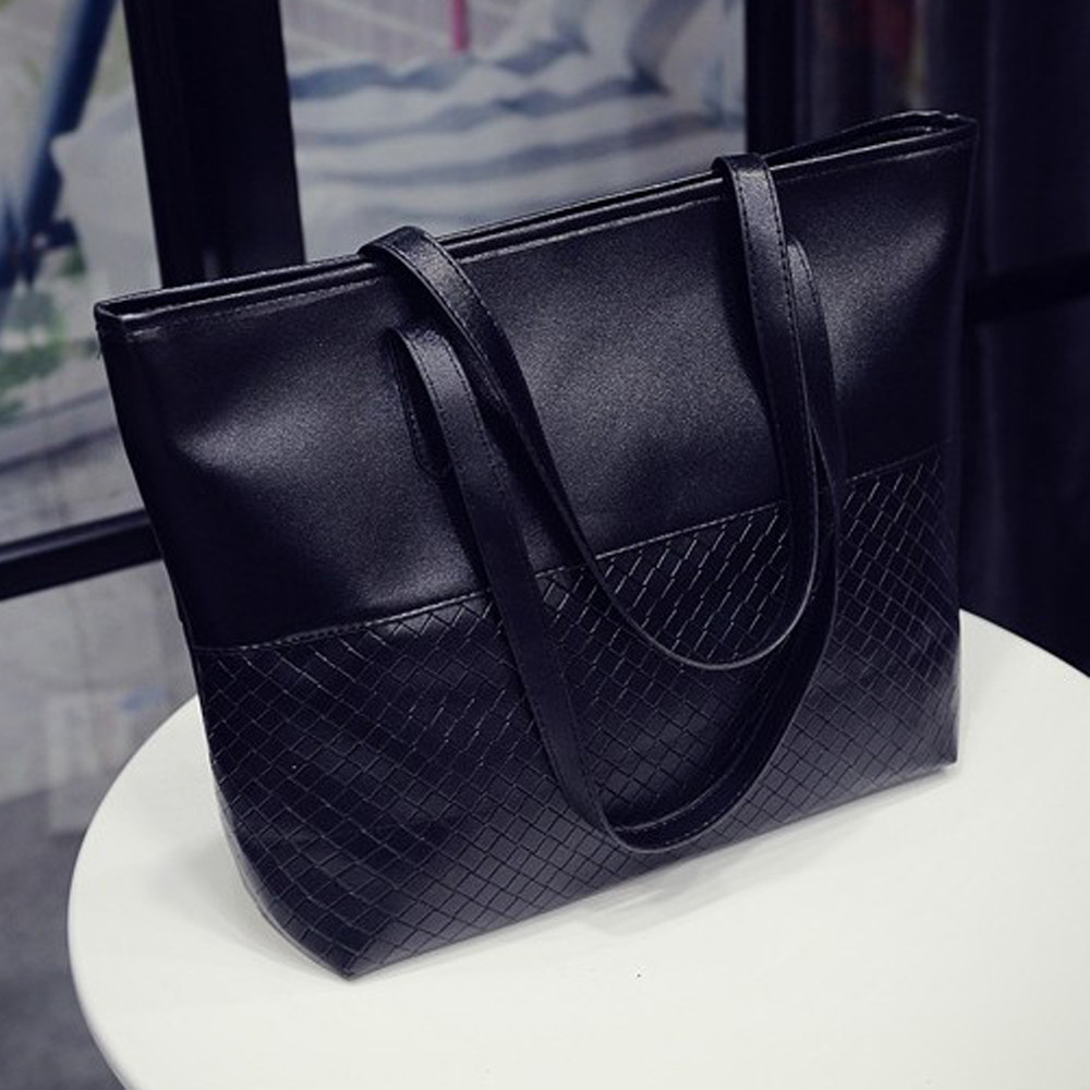 Tote Large Messenger-Bag Women Handbag Main Luxe Femme-De-Marque Black -10 Sac Cuir7