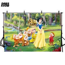 DAWNKNOW Cartoon Vinyl Photography Background For Baby Snow White Polyester Backdrops Children Photo Studio Props G052
