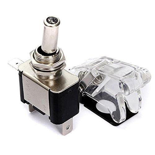 TOYL 12V 20A Car Cover LED SPST Toggle Rocker Switch Control Car Auto Cover LED Light Toggle Rocker Switch
