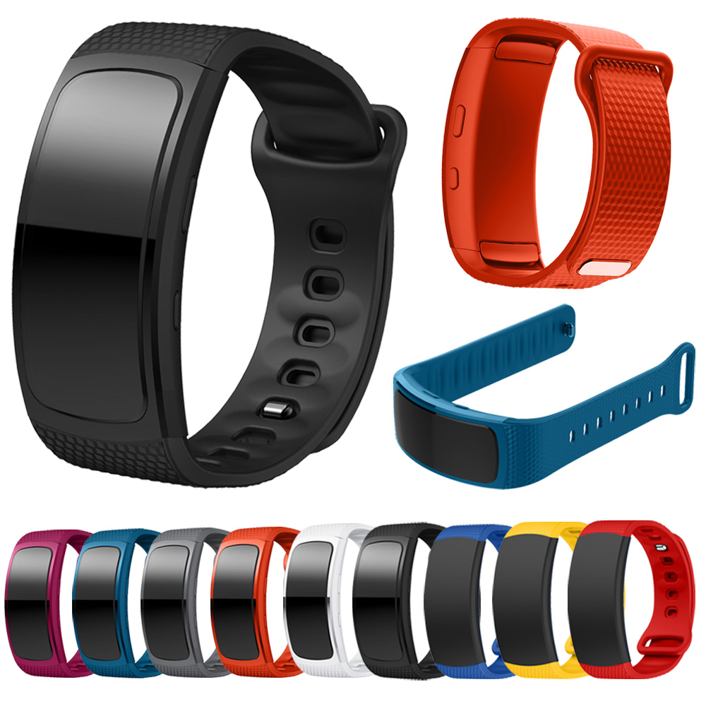 Silicone Watch Band For Samsung Gear Fit2 Pro Fitness Watch Bands Wrist Strap For Samsung Gear Fit 2 SM-R360 Bracelet Strap