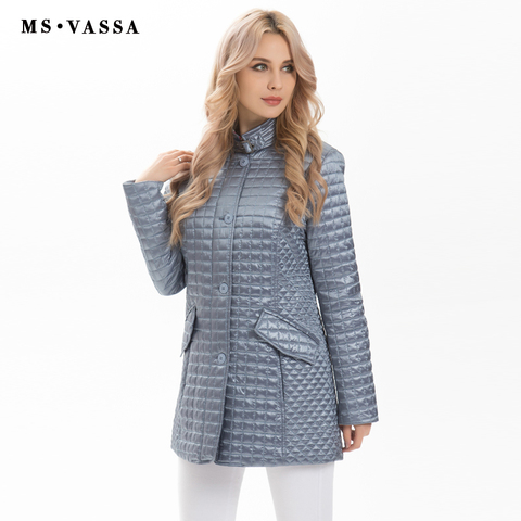 MS VASSA Women Jackets 2019 new Spring Ladies coats fashion jackets stand up collar plus size 5XL 6XL female outerwear Lahore