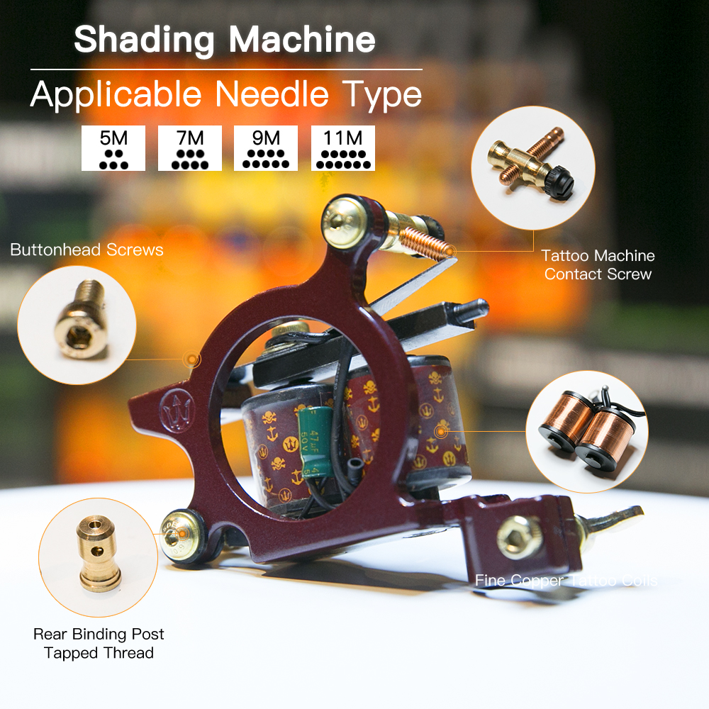 Wrap Coil Tattoo Machine Alloy Frame Professional Tattoo Kits For Shading Coloring Supplies