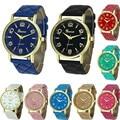 CLAUDIA Mujeres Ginebra Visten Los Relojes de Marca de Lujo Ultrafino de Moda Casual Relojes de pulsera de Cuarzo Correa de Cuero Del Relogio Feminino 2016