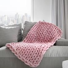 24 m 새로운 수동 짠 담요 코어 원사 라운드 천으로 거친 라인 뜨개질 diy 양모 손으로 짠 원사 홈 안티 콜드
