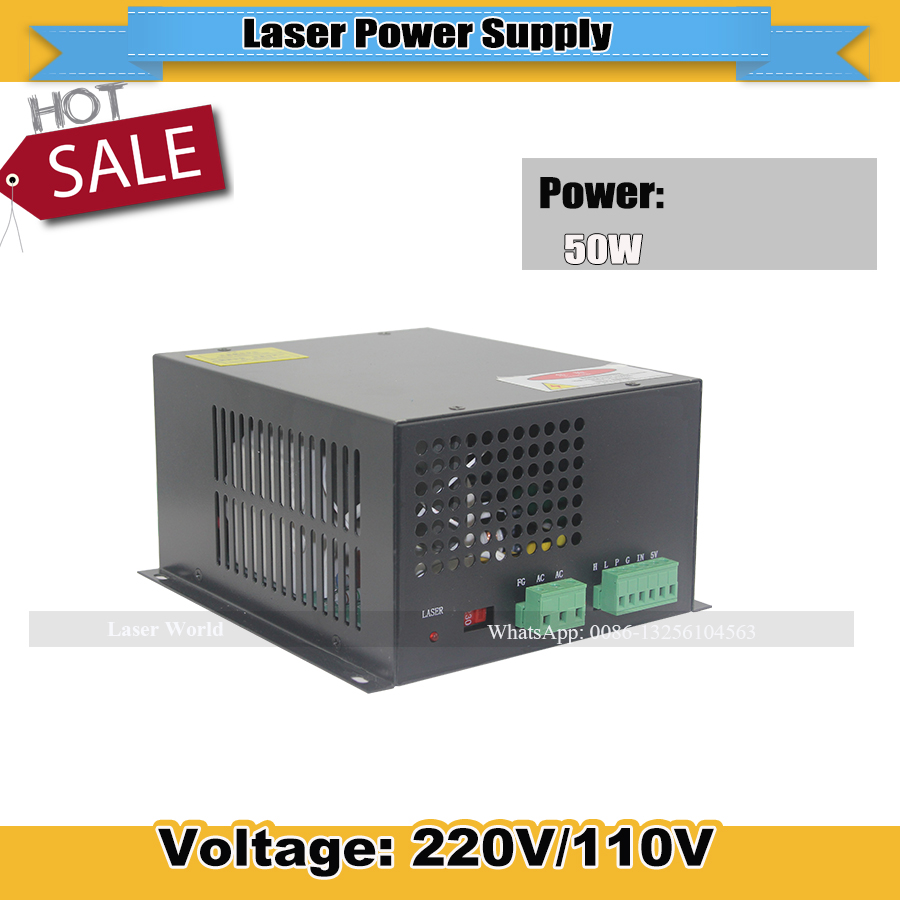 50w Laser Power Supply 220/110v HT 50 Used for Laser Engraver and Cutting Machine High Quality