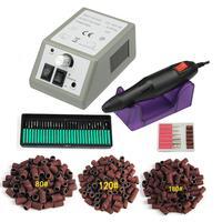 Профессиональная электрическая дрель для ногтей набор пилок для ногтей фреза для маникюра 36 бит 120