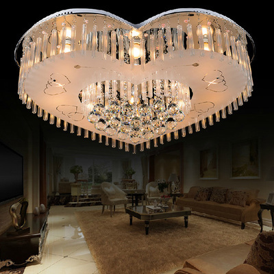 Crystal Combination Heart Love Led Ceiling Light Bedroom Lamp Control Section Bright Hotel Decorations Lamps Za