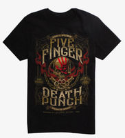 Five Finger Death Punch 5FDP 100% PURE CREST T Shirt NEW Authentic & Official summer o neck tee free shipping cheap tee