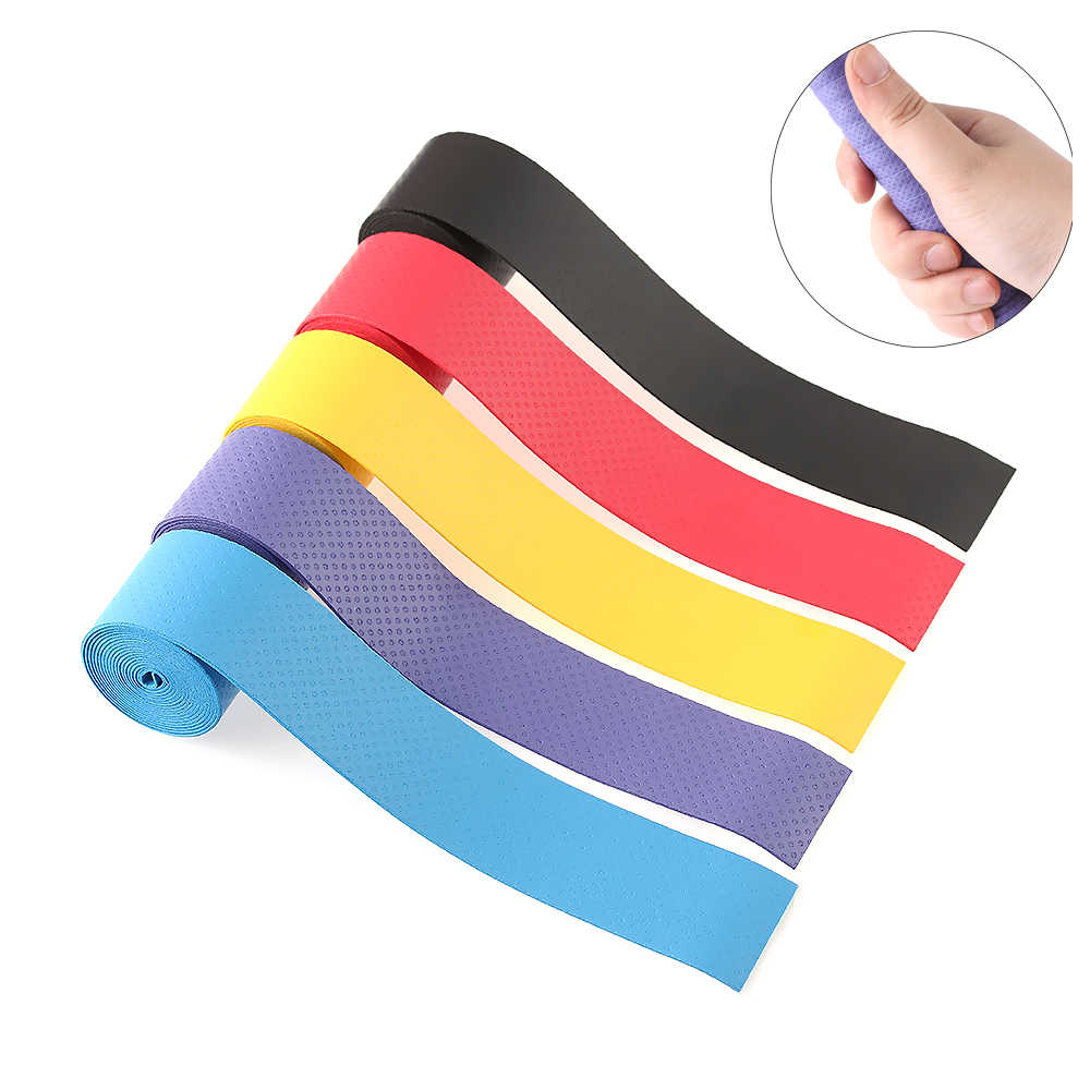Color Random!1/2/5PC NEW Multicolor Firm Fishing Anti-skid Sweat Tape Skidproof Band grip Racket Absorbed Wrap