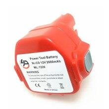 2.0Ah reemplazo de la batería de 12 V NI-CD de herramientas eléctricas para Makita Taladro: 192681-5, 1222, 638347-8-2, 1200, 192698-8, 1233, 1201A, 1050D, 4191D