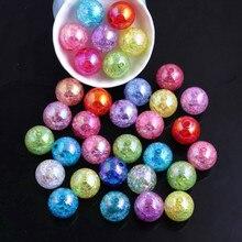 Oykzaファッションジュエリーアクリルラウンドクラックルabビーズため分厚いネックレスdiy作る10ミリメートル12ミリメートル16ミリメートル20ミリメートルfashion beadsbeads fashionab beads