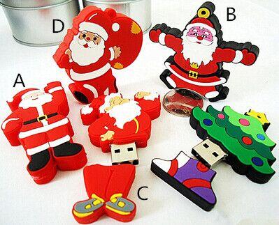 Usb Stick Mini cute Santa Claus stick -USB Flash 2.0 Memory Drive Stick 4GB-64GB S166pendrive