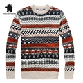 2016 New Winter men's Sweater Slim Knit Sweater Fashion Round Collar Thicken Casual Sweater For Men 2 Colour S~2XL DB12E7707