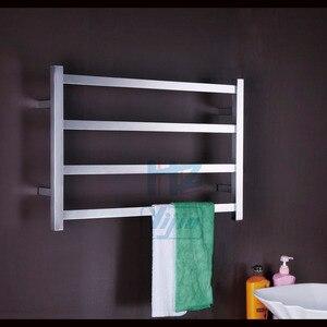 Image 3 - SONO Riscaldati Portasciugamani Accessori Per il Bagno Portasciugamani In Acciaio Inox Nero Scaldasalviette Elettrico Asciugatrice, mensola del bagno TW RT2