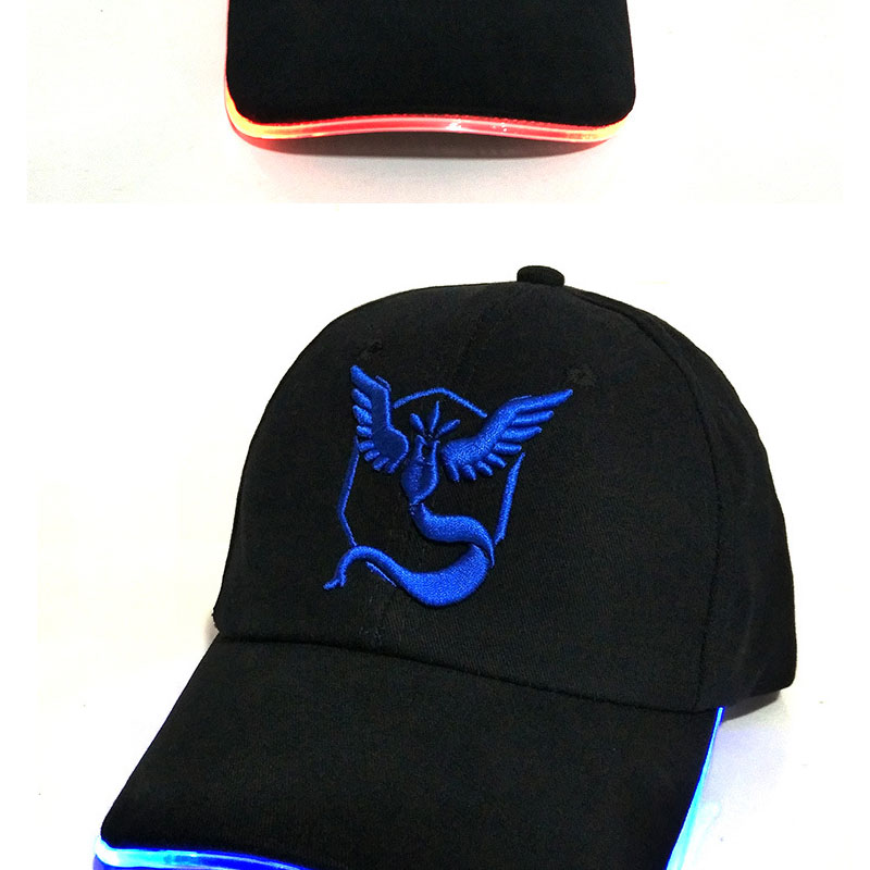 876aeaa8d56 ... 2017 New LED Light Pokemon Go Cap Hat Team Valor Team Instinct Pokemon Baseball  Cap for ...