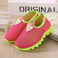 2016 New Summer Girls Shoes Sandals Black Red Children Shoes Running Boys sneakers Breathable Kids Air Mesh Shoes Size 28-33